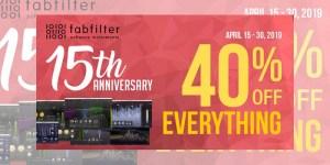 【セール】FabFilter 設立 15周年記念!【40% OFF】