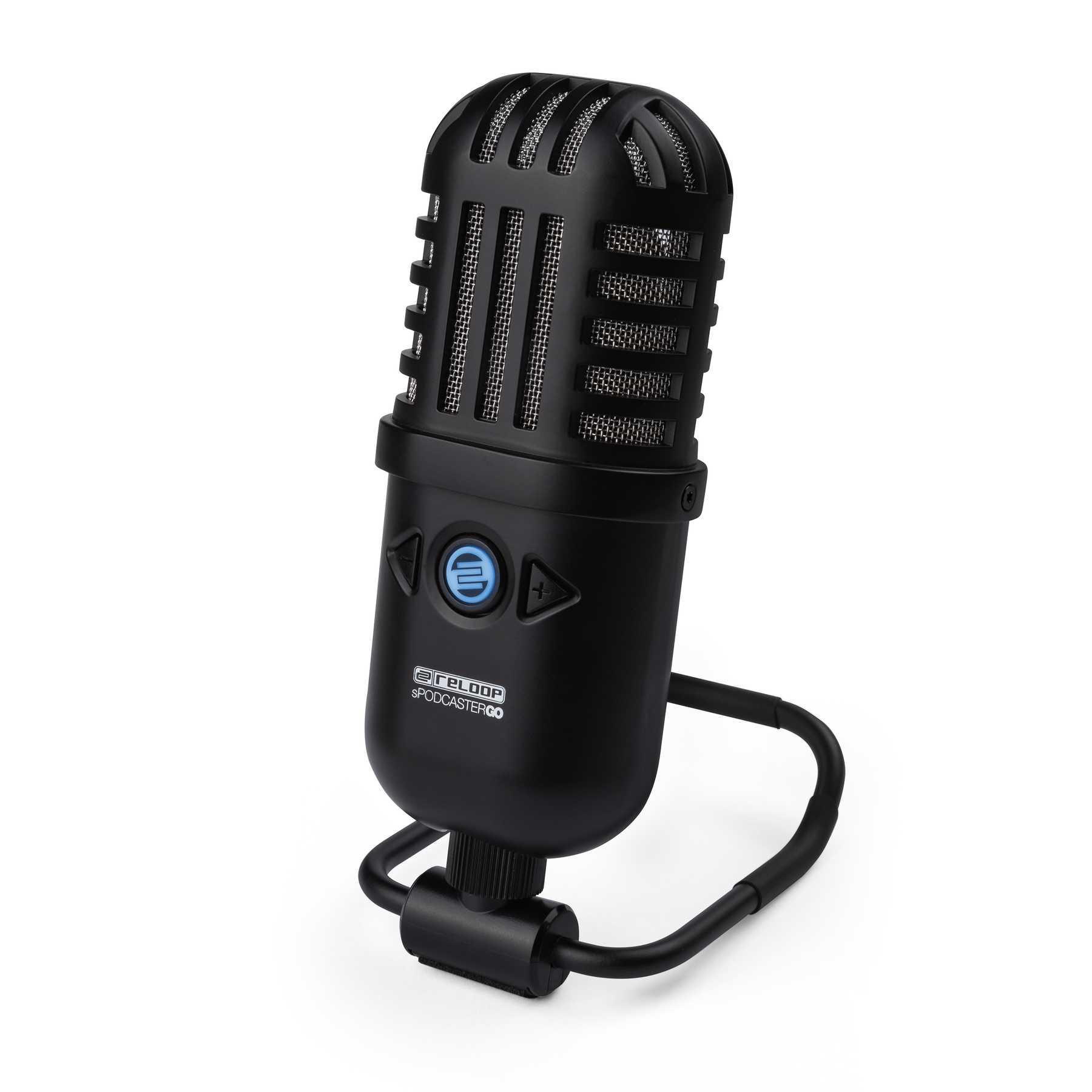 配信や録音に最適なプロフェッショナルUSBマイクReloop sPodcaster Go