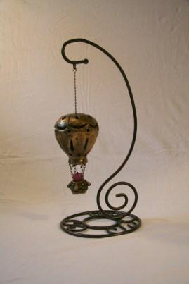 Hot Air Balloon Candle Holder/Light ~ Bronze