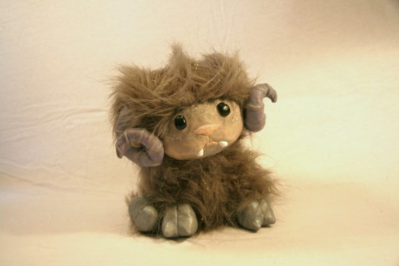 Byrtle, a Whimsy ~ Faux Fur, Clay, Other Materials