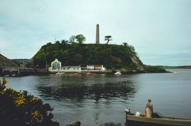 Oak Tavern Photograph Round Tower Fisherman in Foreground