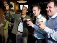 POTUS drinking a pint with Henry Healy