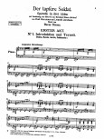 The first two pages of the published piano-vocal score of Oscar Straus' operetta Der Tapfere Soldat