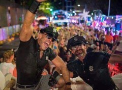 Jesse and me at Mardi Gras in Sydney.