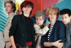 1981 --- Members of Duran Duran are, from left: Simon Le Bon (vocals), John Taylor (bass), Andy Taylor (guitar), Nick Rhodes (keyboards), Rodger Taylor (drums). --- Image by © Lynn Goldsmith/Corbis