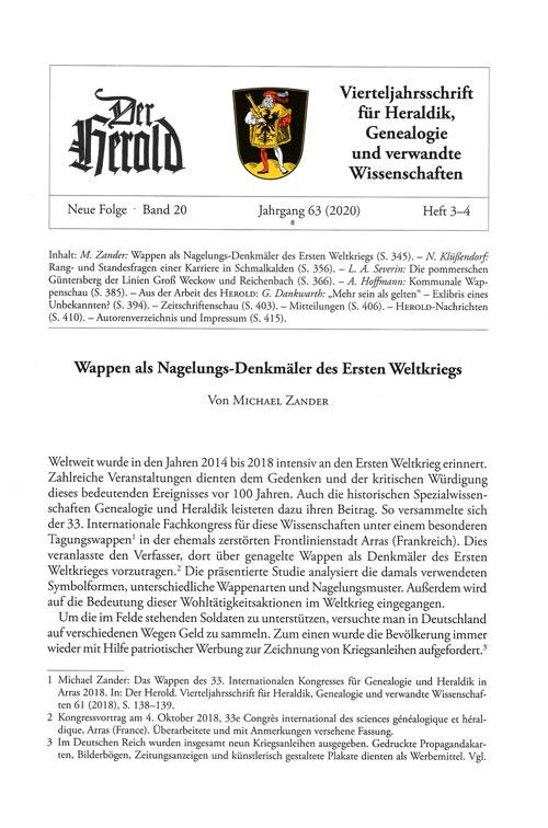 Herold Heft 3-4 2020