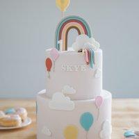 Skye's eerste verjaardag: een regenboog feestje!