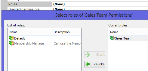Add Role Permission Set