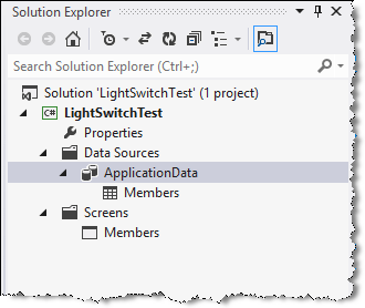Extending LightSwitch solution explorer
