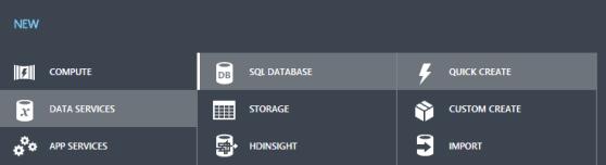Create Azure Databases
