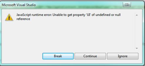 JavaScript Runtime Error