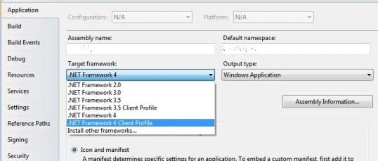 Log4Net Visual Studio Framework