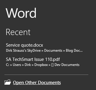 Office Word 2013 Open PDF