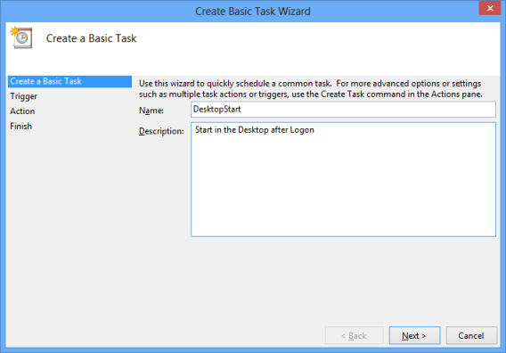 Configure Basic Task Options