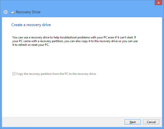 Recover or reset the computer without recovery media