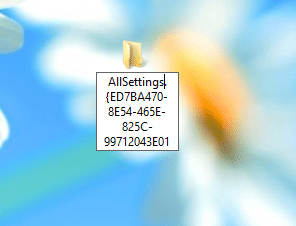 All Settings String as file name