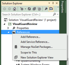 Visual Studio Add Reference