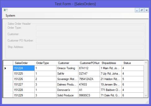 Sales Order Screen Secured