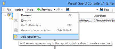 Visual Guard Add Repository