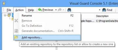 Visual Guard Add Repository