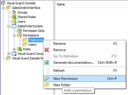 Visual Guard New Permission