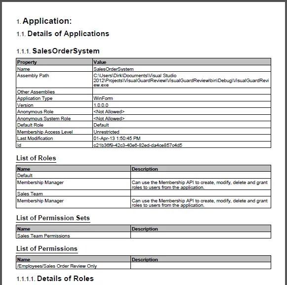 Visual Guard Report Document