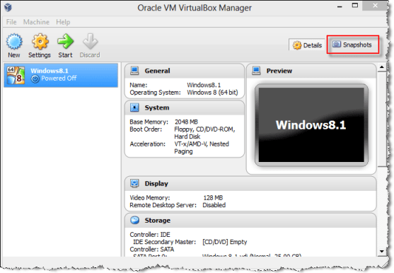 virtualbox manager Clone VirtualBox VM's