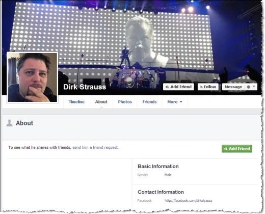 facebook privacy profile page