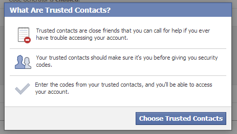 what are trusted contacts