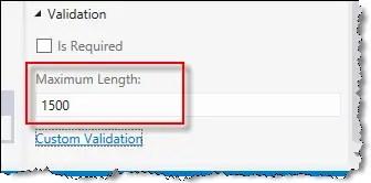 field length changed