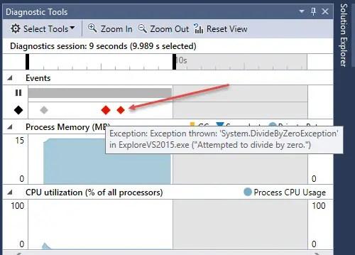 Visual Studio 2015 IntelliTrace