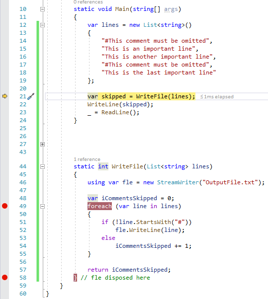 C# 8.0 variable out of scope