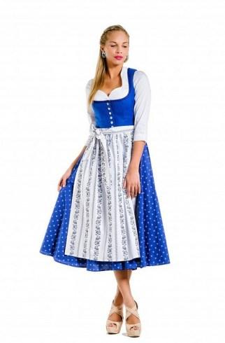 Blaues Baumwolldirndl, Berzaghi-Freymann