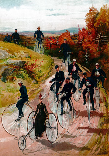 Early cyclists came mostly from the upper class / Island Press