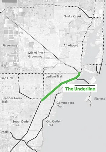 Map of the proposed underline, with other existing and proposed trails / Friends of the Underline