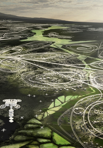 Rendering of Possible Future Suburbs/Source: Center for Advanced Urbanism, MIT