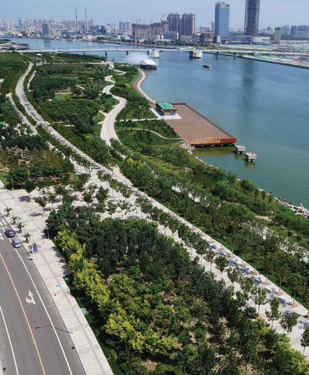 Haihe riverfront park, China /