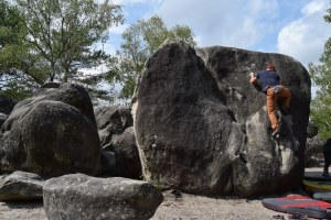 fontainebleau, bouldering, recycled rope chalk bags