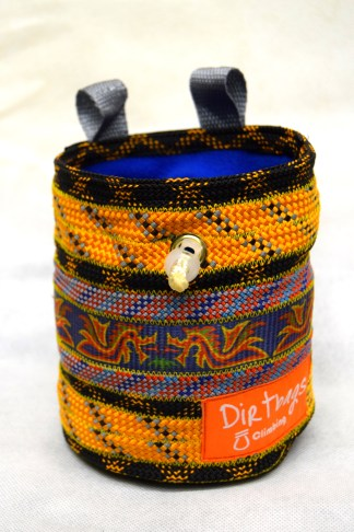 Climbing chalk bag ethically made in the UK using recycled rope