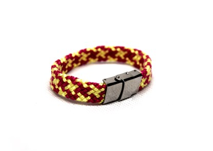 Pink and yellow rope bracelet