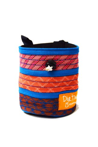 Blue and pink rope chalk bag