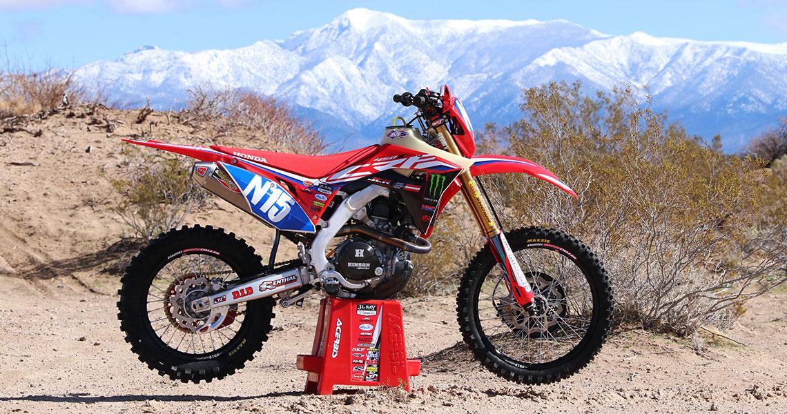 we ride the jcr honda crf450x race bike