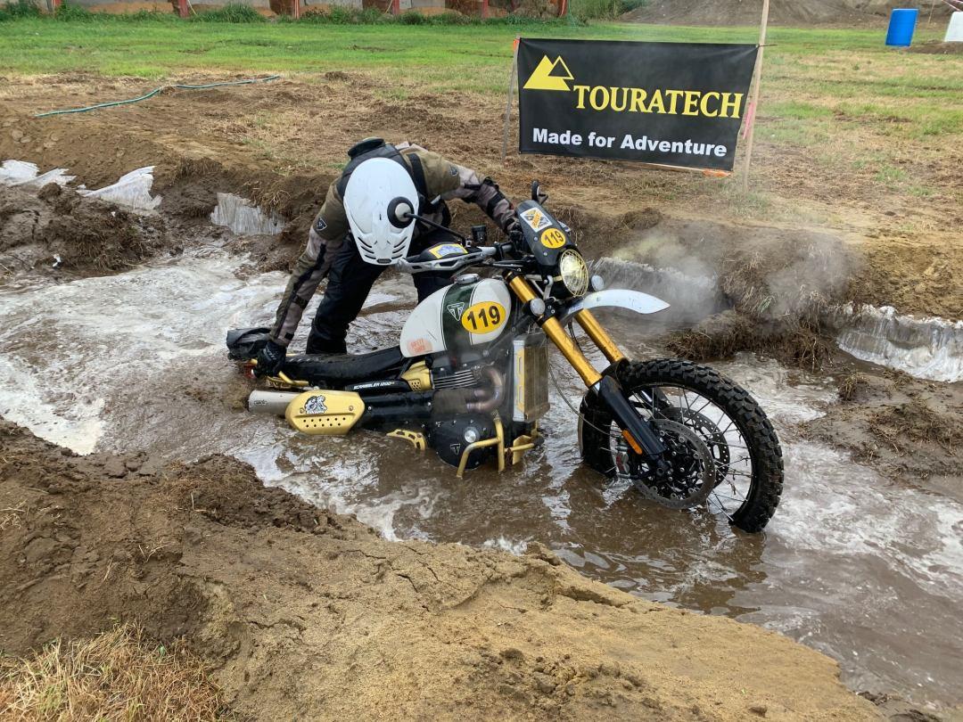 Triumph buried in water