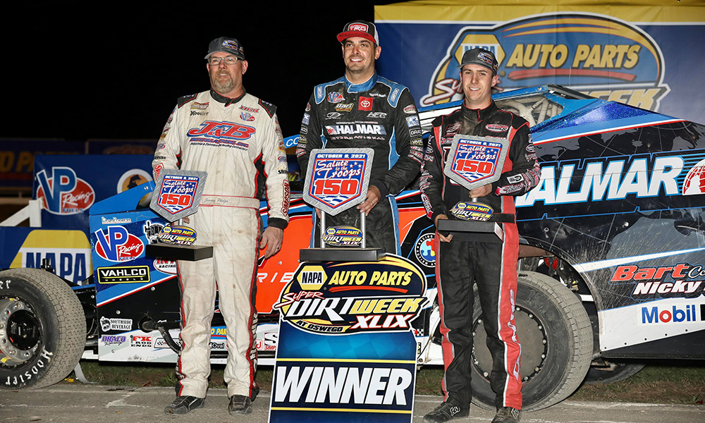 Stewart Friesen wins his first DIRTcar 358 Modified Salute to the Troops 150