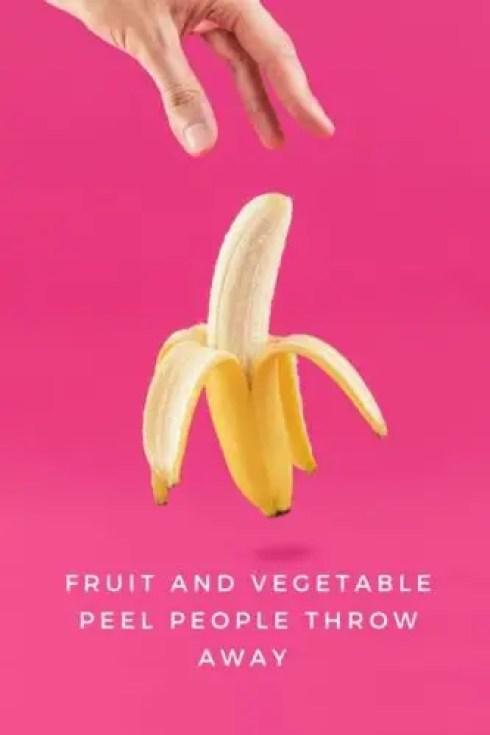 fruit and vegetable Peels people throw away