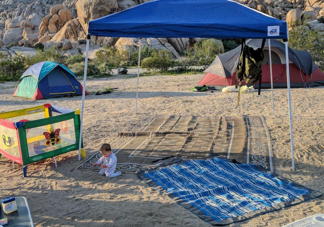 desert camping baby