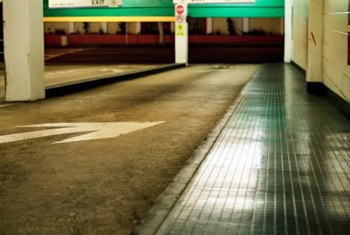 an image of public parking exit in santa monica california