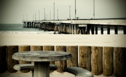 a lomography of the washington street pier in california
