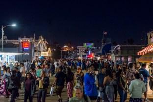 People on the pier in Santa Monica