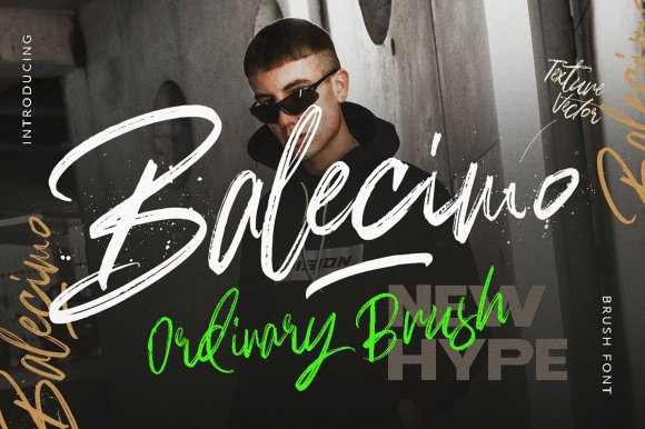 Balecimo – Ordinary Brush Font